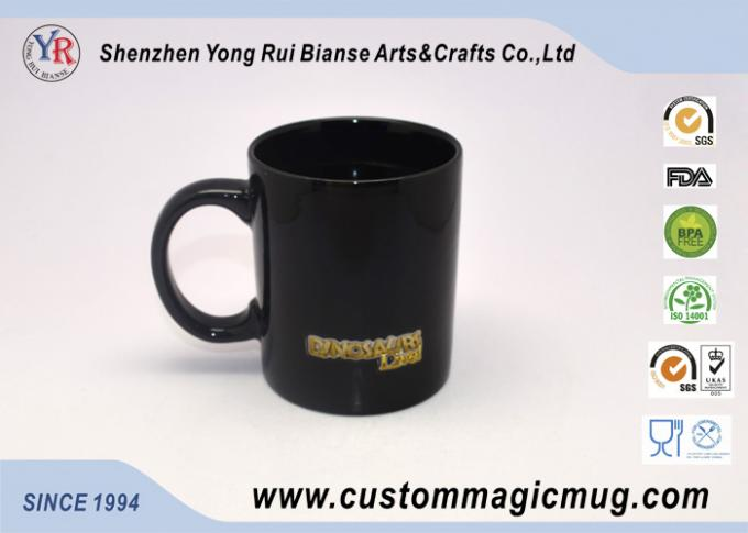 Ceramic Color Changing Coffee Mug , Black Magic Photo Mug 300ml/11oz