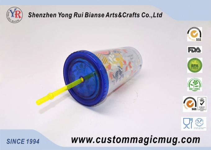 Single Layer Outdoor Eco-Friendly Plastic Straw Cup ODM Personalized Design