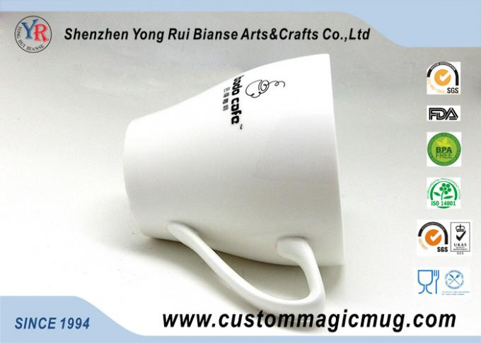 11oz 320ml Porcelain Milk Beverage V Shaped Mug , Color Changing Photo Mug
