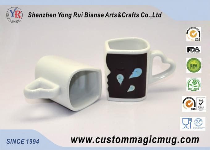 Eco-friendly mug Custom Heat Sensitive Handle Couples Coffee Mugs Change Color Heat