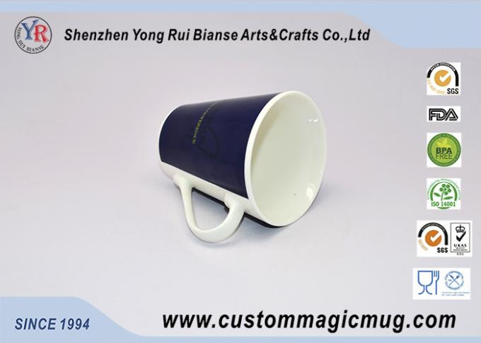 White Porcelain Color Changing Mug V Shaped Mug Company Promotional Giveaways
