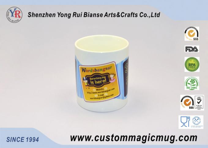 White Heat Sensitive Magic Mug , Advertising Custom Colour Changing Mugs