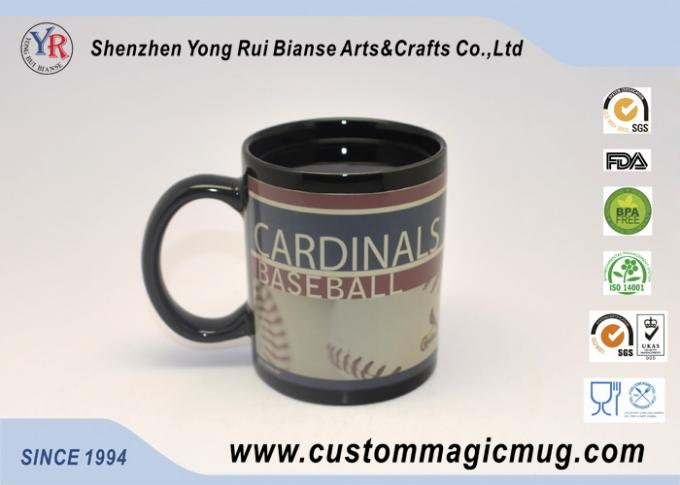Holiday Gift Color Changing Ceramic Mug Advertising White Porcelain
