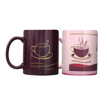 Customized Color Changing Magic Mug , Heat Changing Coffee Mug that change color