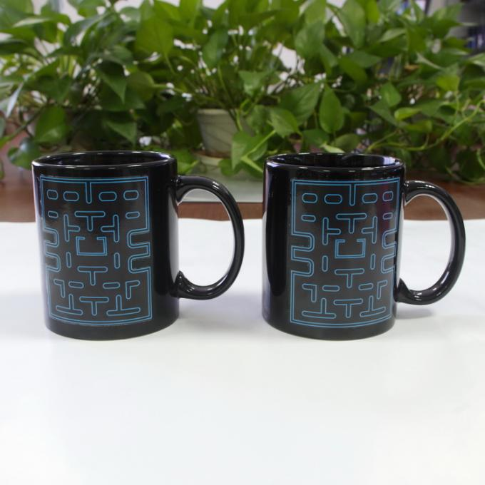 Ceramic Pac Man Personalised Heat Sensitive Coffee Mug 300ml