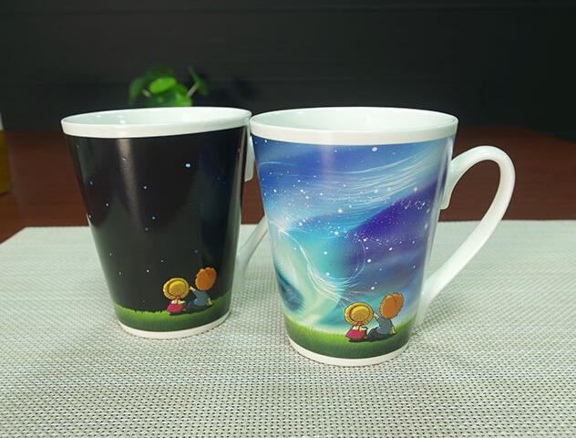 Top Grade Commercial Advertising Color Changing Coffee Mug Black