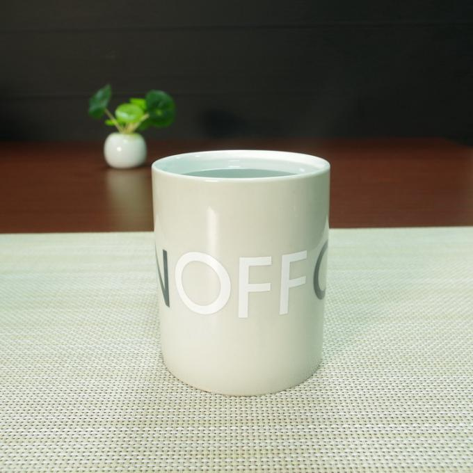 Souvenir gift OFF-ON ceramic coffee mugs water transfer printing