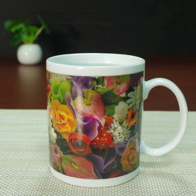Souvenir gift  Rose flowers color changing coffee mugs white porcelain