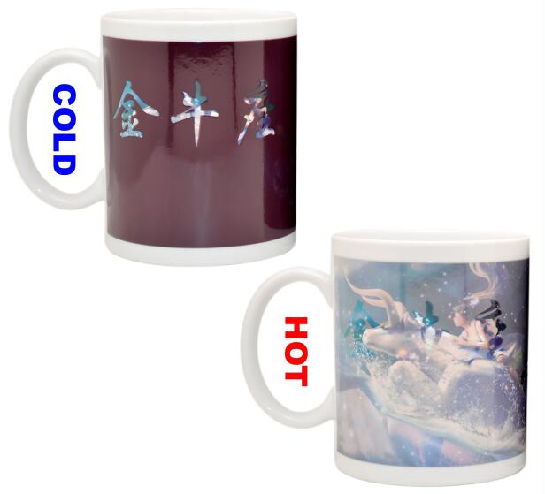 Custom Heat Sensitive Colour Change Coffee Mug , Personalised Colour Changing Mugs