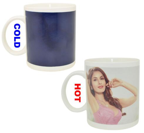 FDA Approval 11oz Changing Heat Sensitive Color Changing Photo Mug