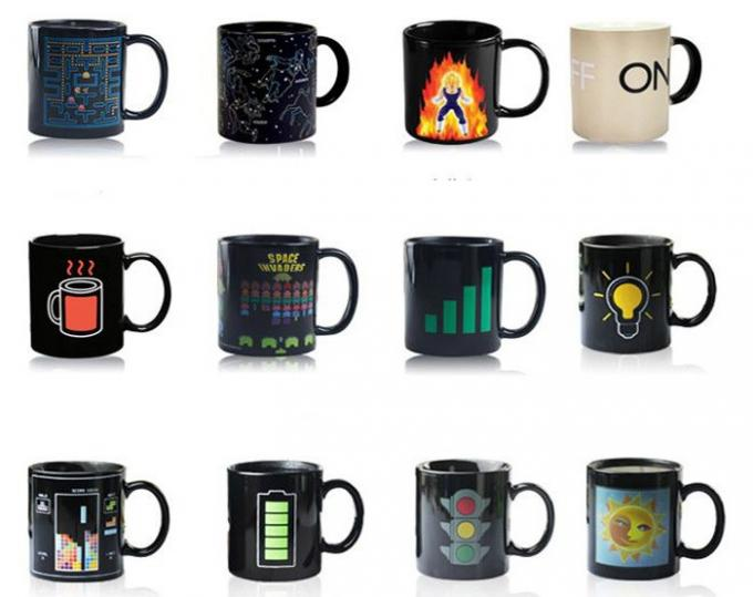 OXGIFT China Supplier Wholesale Amazon ebay Temperature heat sensitive cup hot water custom color changing mug