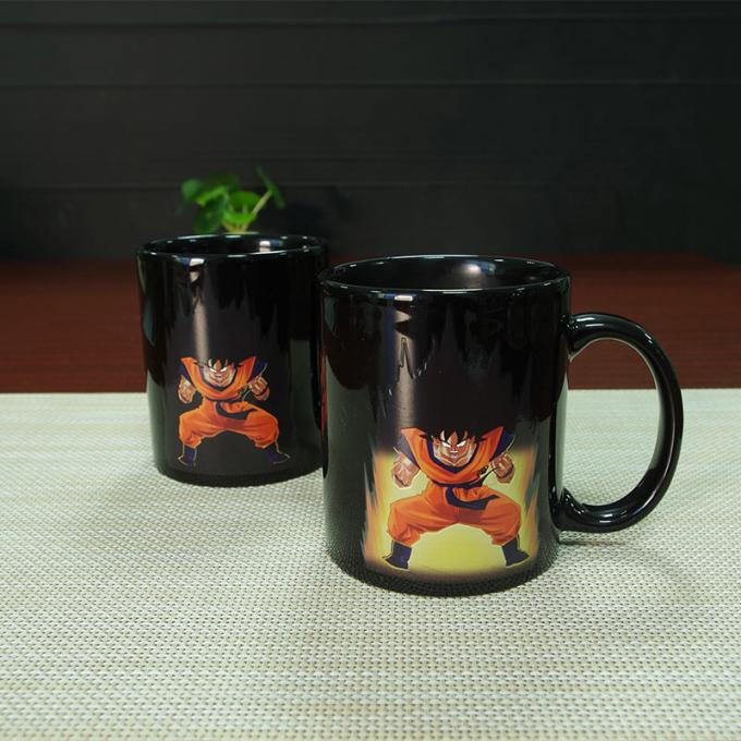 Heat Sensitive Color Changing Mugs Yellow Goku Dragon Ball Magic Mug Coffee Mug Decoration