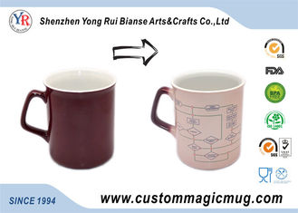 China White 300ml Eco Friendly Coffee Mugs Personalized Temperature Change For Hotel supplier