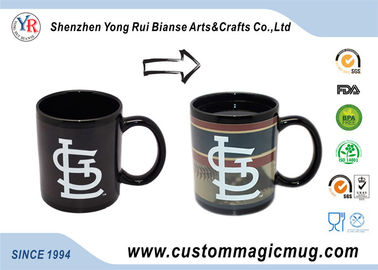 China Holiday Gift Color Changing Ceramic Mug Advertising White Porcelain supplier