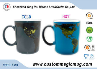 China Heat Sensitive Eco Friendly Mugs , Color Changing 11oz Coffee Mug supplier