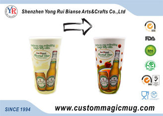 China Cold Color Changing Personalized Kids Mugs , Heat Resistant Cool Beer Mugs supplier
