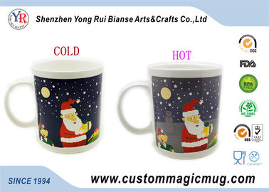 China Heat Sensitive Magical Personalized Kids Mugs Color Change For Christmas Gift supplier