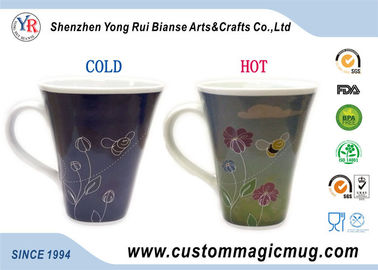 China Large Horn Shape Novelty Heat Changing Coffee Mug Eco Friendly Ceramic supplier