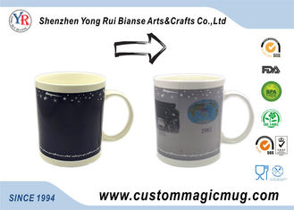 China Beautiful Eco Friendly Ceramic Mugs Temperature Heat Changing supplier