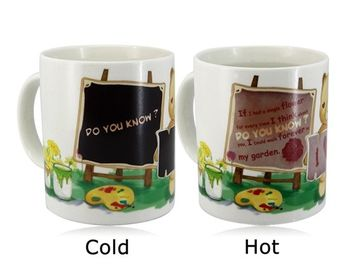 China Promotional Items Color Change Magic Coffee Cup Color Changing Magic Mug supplier