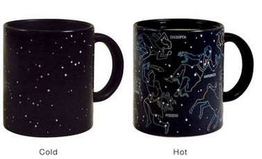 China Constellation Color Changing Coffee Mug Temperature Color Changing Mug supplier