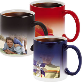 China Custom Funny Coffee Magic Color Changing Coffee Mug Diameter 8cm*Height 9.5cm supplier