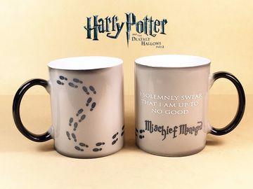 China Harry Potter Mugs Mischief Managed Magic Coffee Cups 8*9.5cm OEM supplier