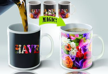 China Magic Personalized Kids Mugs Heat Sensitive Color Changing Coffee Mug supplier