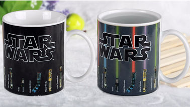 China Star Wars Lightsaber Beams Up Heat Sensitive Magic Mug Hot Liquid Added supplier