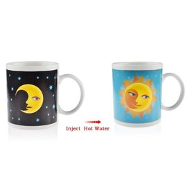 China PeleusTech Magic Heat Sensitive Color Changing Mug Ceramic Coffee Tea Cup supplier