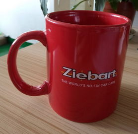 China Customized Logo Glazed Red Colour Changing Mug Water Transfer Printing Decoration supplier