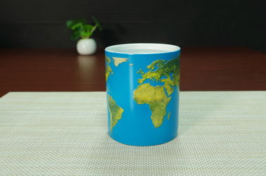 China 11oz Personalized Ceramic Coffee Mugs Day And Night Magic Type supplier