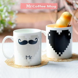 China Couples Changing Coffee Mugs Eco Color Changing Cups Personalized supplier