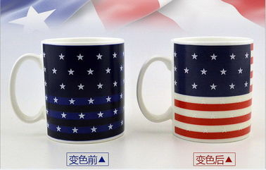 China Starlight Heat Sensitive Color Changing Mugs Water Transfer Printing supplier