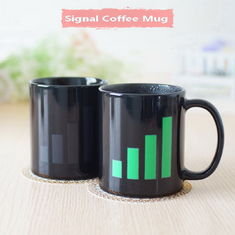 China Signal Heat Sensitive Mugs That Change Color Popular Color Changing Coffee Cup supplier