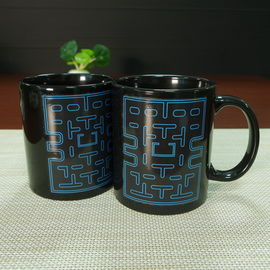 China Ceramic Pac Man Personalised Heat Sensitive Coffee Mug 300ml supplier