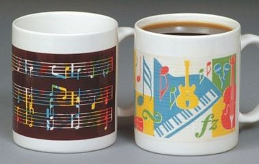 China Gifts temperature sensitive mug , Durable indoor Colour Changing Ceramic Cup drum shape supplier
