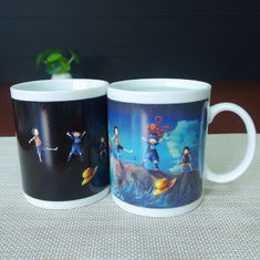 China Stocked cartoon ONE PIECE heat sensitive color changing mugs white porcelain supplier