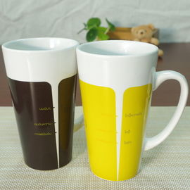 China Promotional heat sensitive color changing mugs 14oz cappuccio ceramic mug supplier