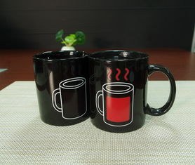 China Promotional gift heat sensitive color changing coffee mugs stocked supplier