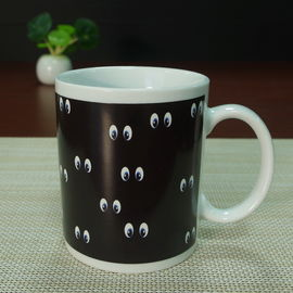 China Square mug smile face heat sensitive color changing mugs 11 oz supplier
