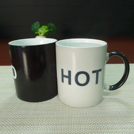 China Souvenir gift  COLD HOT heat sensitive color changing mugs stocked supplier
