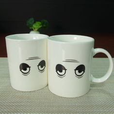 China White porcelain wake up heat sensitive color changing mugs drinking supplier