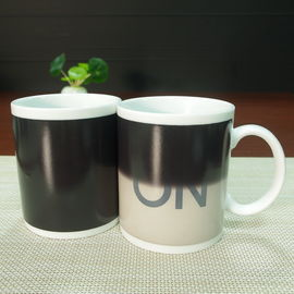 China Partial Color Changing Coffee Mug ON/OFF High - White Ceramics supplier