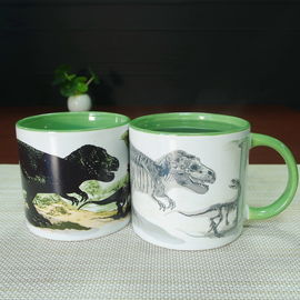 China 11 oz Dinosaurs Color Changing Coffee Mug / Heat Changing Coffee Mug supplier