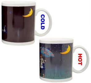 China Custom Heat Sensitive Colour Change Coffee Mug , Personalised Colour Changing Mugs supplier