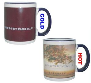 China Wonderful Porcelain / Ceramic Coffee Mug That Changes Color With Heat supplier