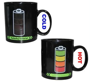 China Promotional Color Changing Coffee Mug , Coffee Mugs That Change Color With Heat supplier