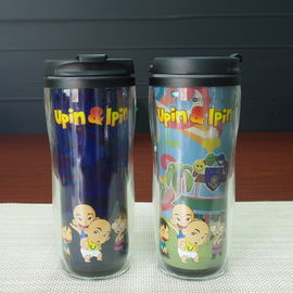 China Plastic Double Wall Tumbler Cup Personalised Childrens Mugs SGS supplier