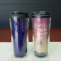 China Temperature Sensitive Color Changing Mugs Double Wall Plastic supplier